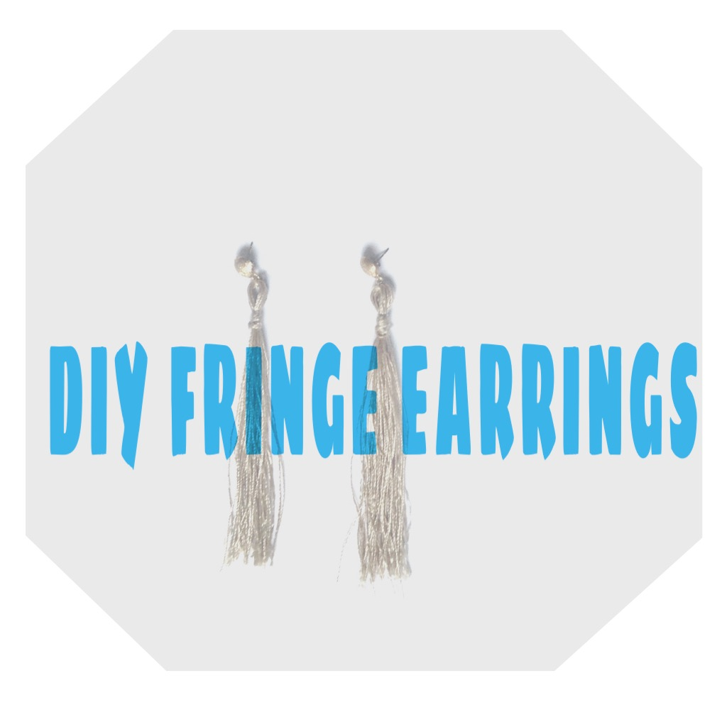 HOW TO|DIY Fringe/Tassel earrings