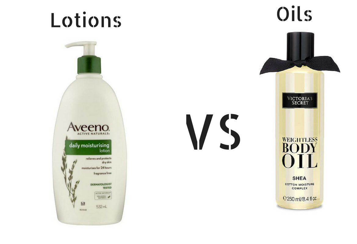Oils vs Lotions For healthy glowing skin